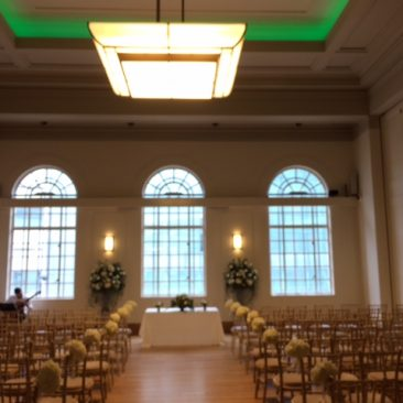 wedding ceremony set up and hackney town hall